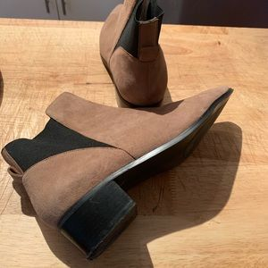 Halogen tan suede ankle boots